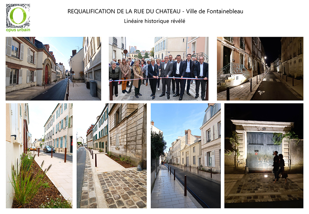 Inauguration de la rue du Château de Fontainebleau