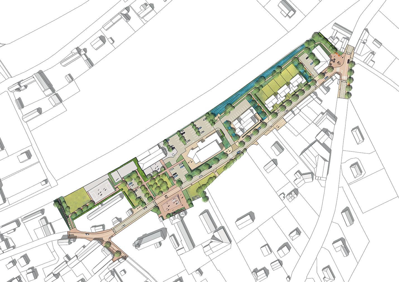 Requalification d'un centre bourg normand de caractère